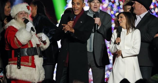 Obama lights National Christmas Tree for final time