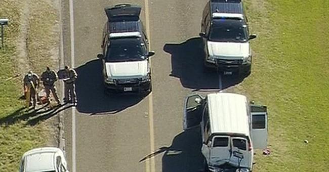 1 dead, 11 injured after Texas school van rear-ended