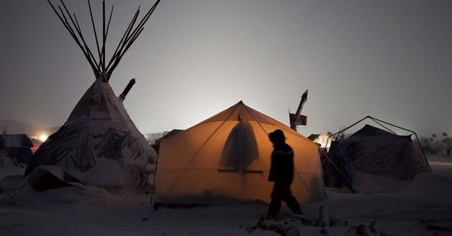 Famously cold N. Dakota winter menaces pipeline protest camp