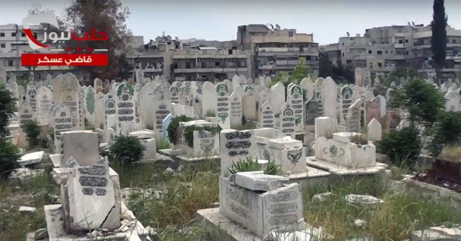 No more room for the dead as Syria's Aleppo is crushed