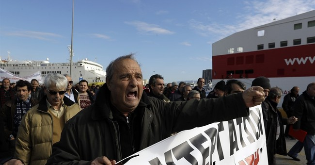 Greek unions call general strike, ferry crews extend walkout