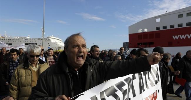 Greek unions call general strike, ferry crews extend walkout
