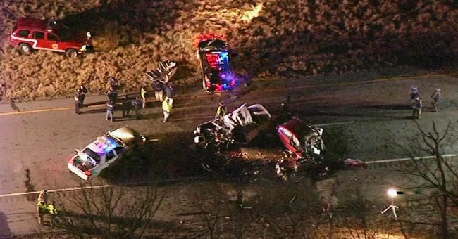 The Latest: Erratic driver blamed for deadly trooper crash