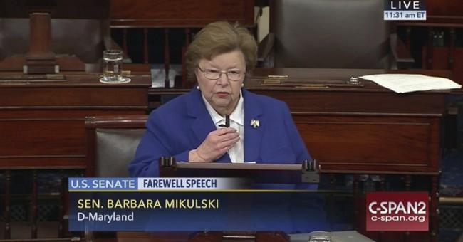 Maryland's 'Sen. Barb' and veteran Sen. Boxer bid farewell
