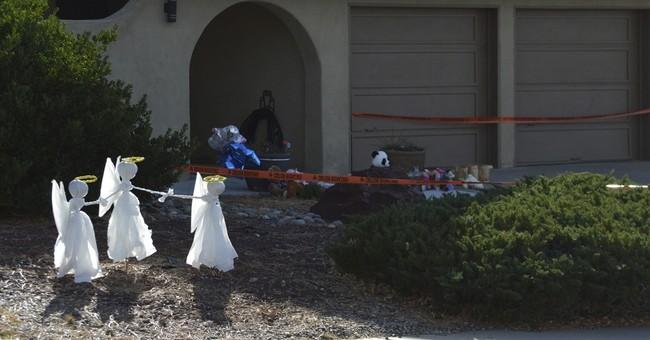 'Angels' left outside the home where 3 children fatally shot