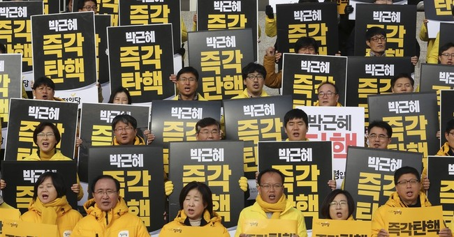 The Latest: US says smooth transition in S. Korea critical