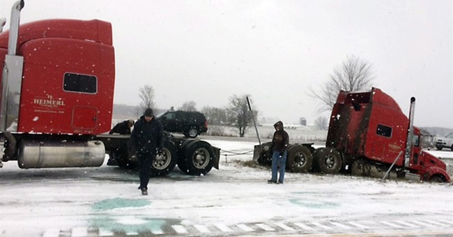 3 killed in 40-vehicle pileup on slick Michigan interstate