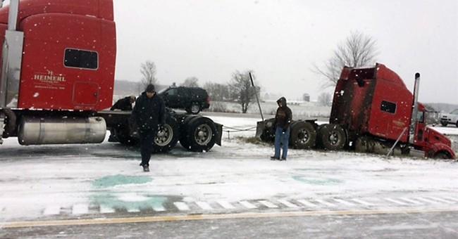 3 killed in 40-vehicle pileup on slick Michigan interstate