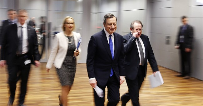 The Latest: ECB chief sees potential turmoil from elections