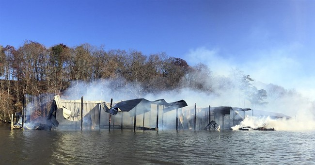Virginia marina fire destroys at least a dozen boats