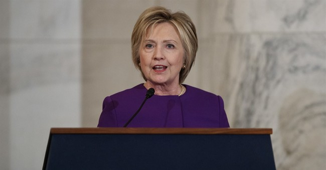 Clinton decries rise of fake news in Capitol speech