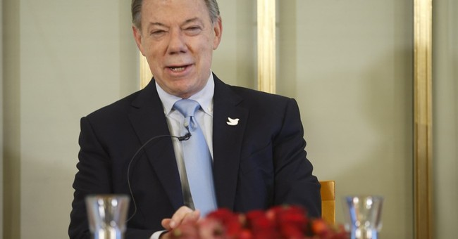 Colombian president to collect Nobel without rebels in tow