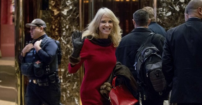 Trump campaign manager Conway leads Christmas parade