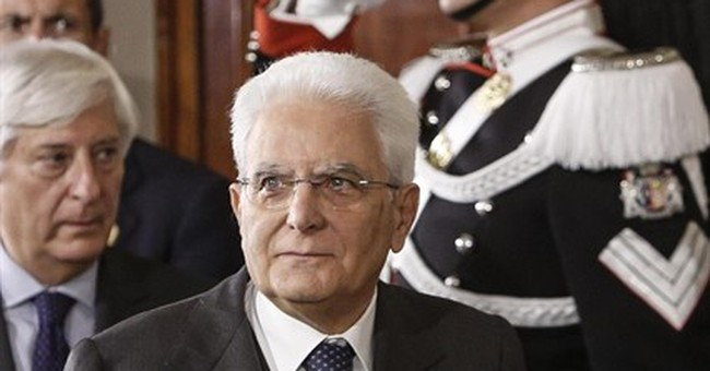 Italian president: We need a new government urgently