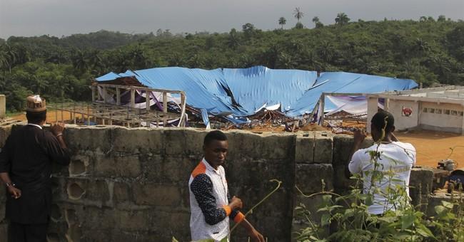 Nigerian church collapses, 160 dead, says hospital director
