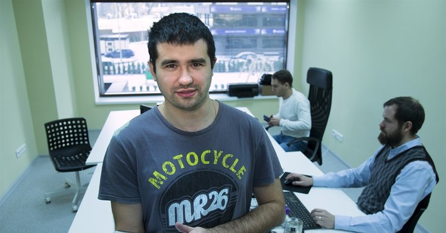 For unlikely tech hub in Russia, recession's a godsend