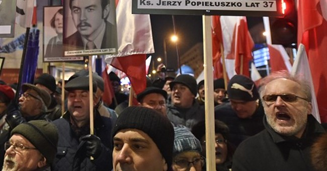 Large protests in Poland as leader vows to stifle opposition