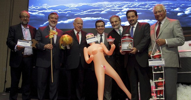 Inflatable love doll gift to minister sparks furor in Chile