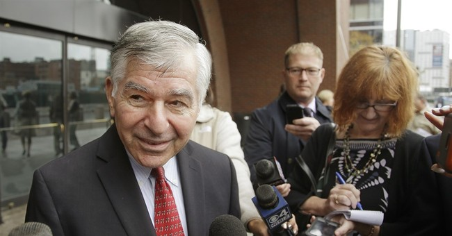 Dukakis stumbles while picking up trash, requires stitches