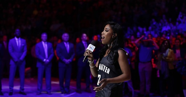 Streeter performs national anthem in 'We Matter' shirt