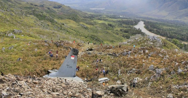 Indonesia military transport plane crashes in Papua; 13 dead