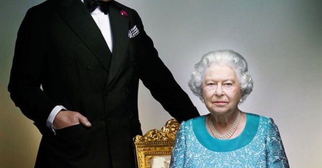 Queen's new portrait features Prince Charles as guest star