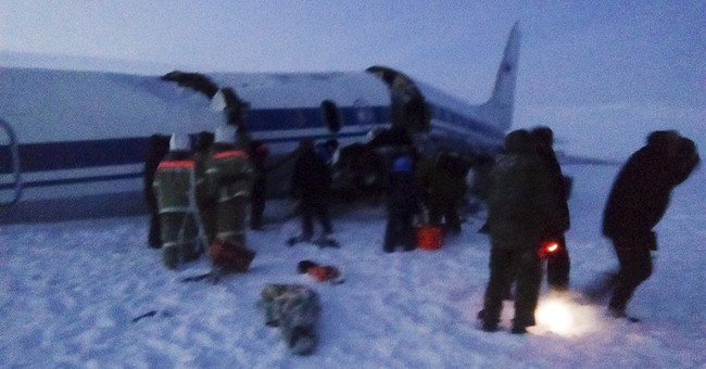 32 injured in Russian military plane crash; no deaths
