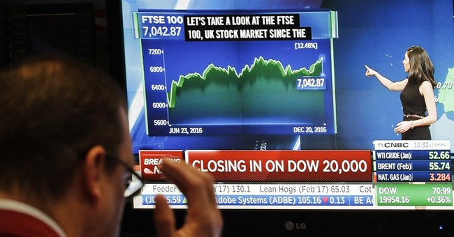 Global stocks steady as Dow attempts another 20,000 breach