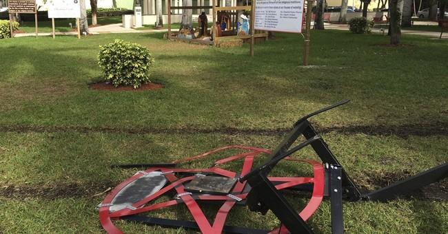 Vandals attack pentagram erected to protest Nativity scene