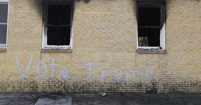 Mississippi church member charged in 'Vote Trump' arson
