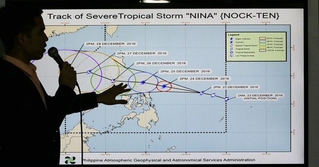 Philippines warned of rainy Christmas from tropical storm