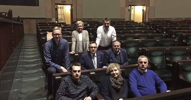 Polish lawmakers occupy parliament in holiday protest