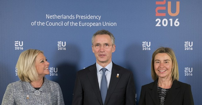 NATO chief meets EU defense ministers to discuss cooperation