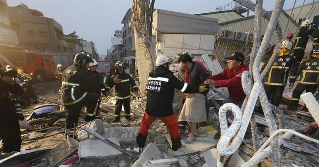Strong quake hits Taiwan, killing 5 and injuring 318