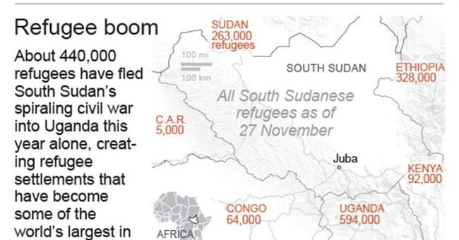 Fleeing war, South Sudanese create booming camps in Uganda