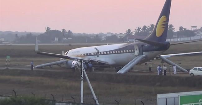 12 injured as airliner veers off runway in western India