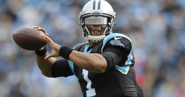 Cam Newton scores with visit to boy battling heart condition