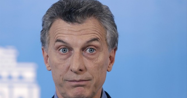 Rock-wielding protesters attack Argentine leader's vehicle