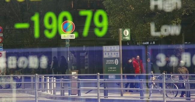 Global stocks edge lower after Wall Street's slide