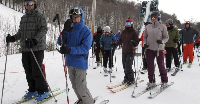 Northeastern ski areas revel in a rarity _ powder