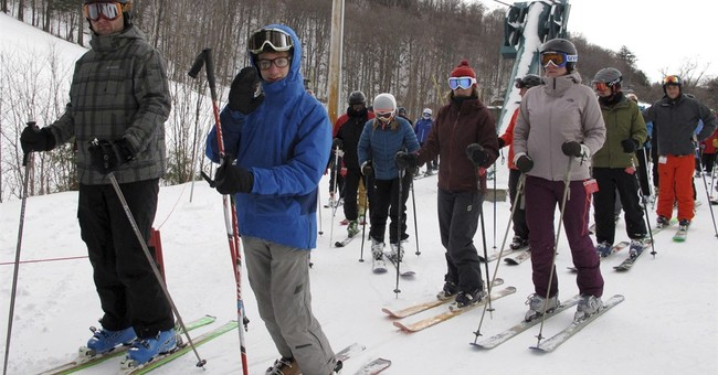 Northeastern ski areas revel in a rarity _ powder