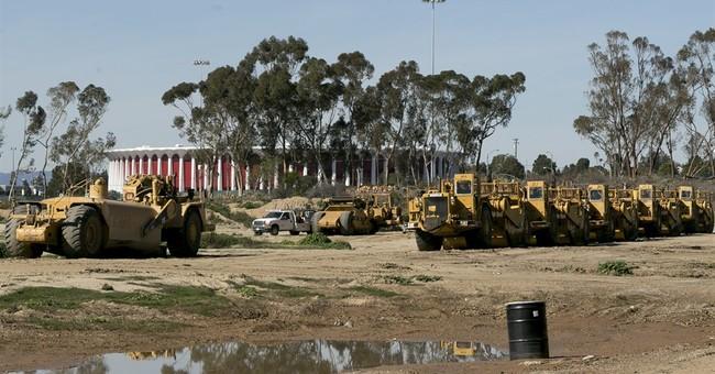 Inglewood's stadium rising soon, hoping to host Super Bowls