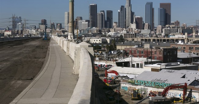 Drivers beware: Famous LA bridge has begun coming down