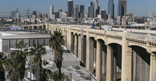 Drivers beware: Famous LA bridge has begun coming down