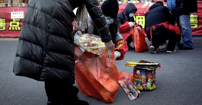 New Year's fireworks a little quieter in Chinese capital