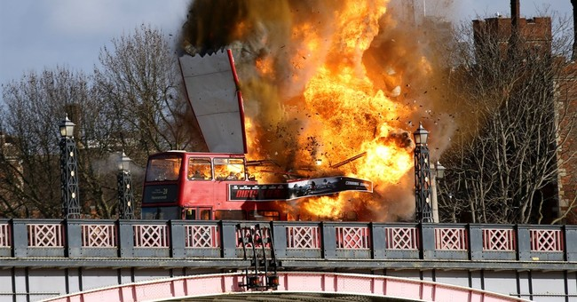 An exploding bus movie stunt sparks concerns in London