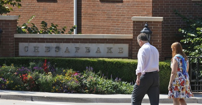 Chesapeake stock tumbles, rises after investors spooked