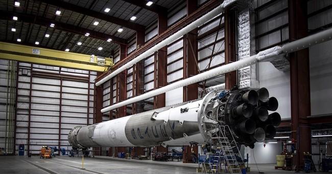 SpaceX's returned booster rocket back in hangar