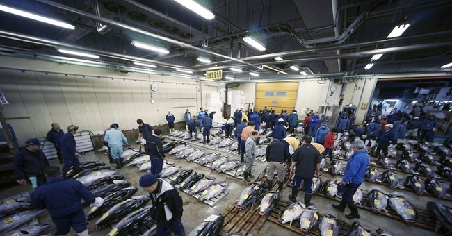 80-year-old Tokyo fish market holds final New Year auction