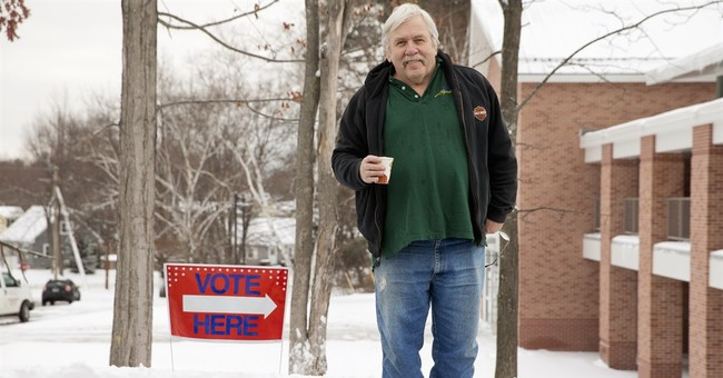 AP PHOTOS: New Hampshire voters gather to vote for president